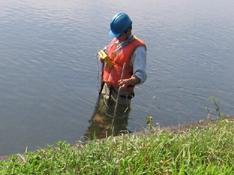 水質分析の様子