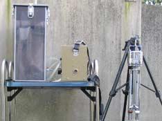 大気測定の様子